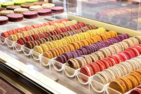 Macarons at the GB Corner Gifts and Flavors store